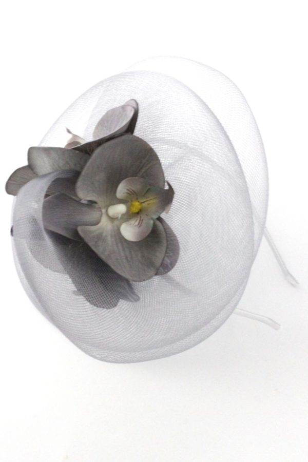 elegant fascinator with orchids