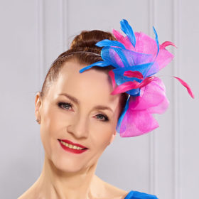 colorful fascinator