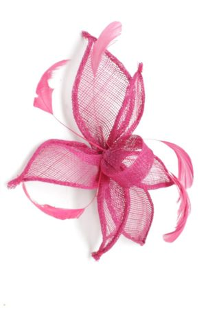 flower hairpin with feathers