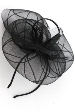 unique black fascinator