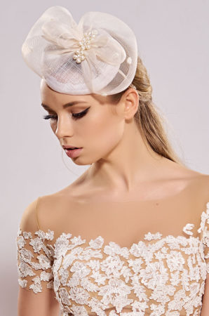 elegant wedding toque