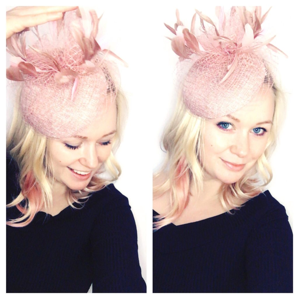 elegant toque with feathers and veiling