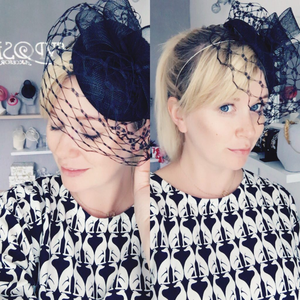 black toque with veiling