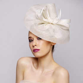 fascinator with a bow