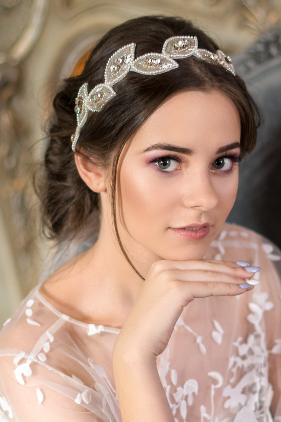 retro wedding headband