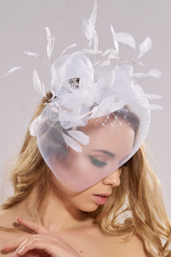 wedding fascinator with dome