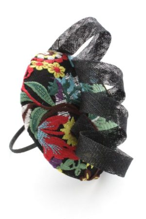 toque with embroidery