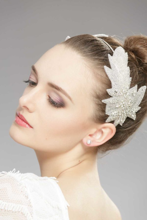 unique headband with crystals and beads